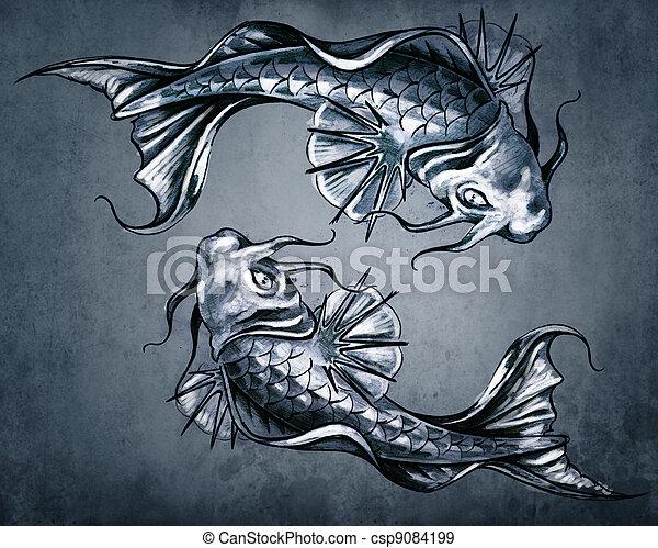 Bleu concept dualit vendange deux japonaise fond for Tarif poisson rouge