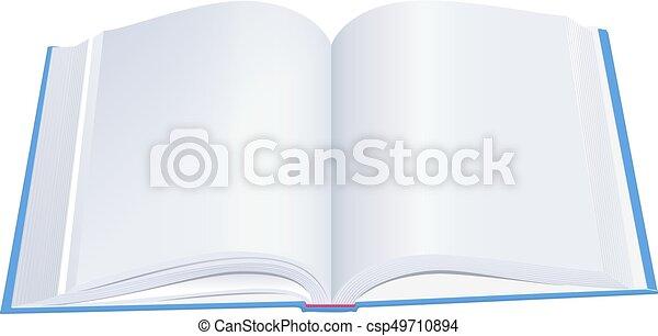 Bleu Couverture Livre Ouvert Livre Cartonne
