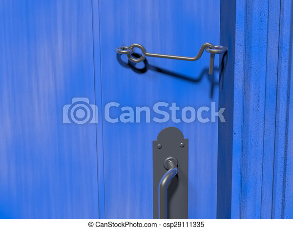 bleu crochet loquet porte cabine bleu rendu porte dessins rechercher clipart. Black Bedroom Furniture Sets. Home Design Ideas