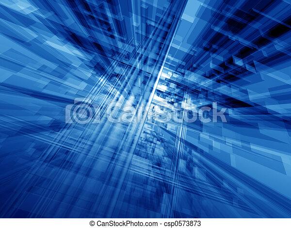 bleu, cyberespace - csp0573873