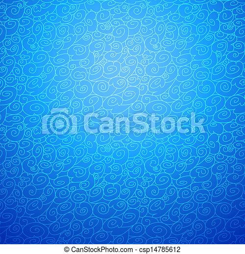 bleu, décoratif, option, couleur, seamless, vague, fond - csp14785612