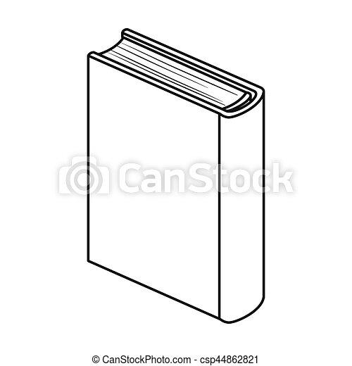 Bleu Debout Style Contour Icone Symbole Isole Arriere Plan Vecteur Livres Blanc Stockage Livre Illustration