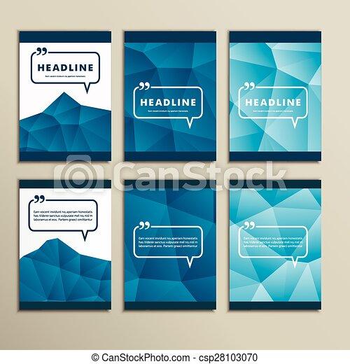 bleu, ensemble, tableaux, résumé, vecteur, fond - csp28103070