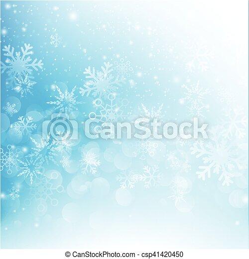 bleu, eps10, résumé, neige, illustration, 012, vecteur, fond, automne, bokeh - csp41420450
