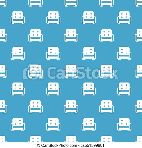 bleu, fauteuil, seamless, modèle - csp51599901