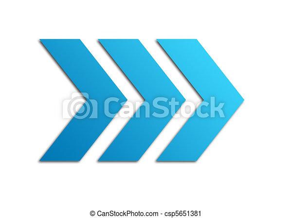 bleu, flèches - csp5651381