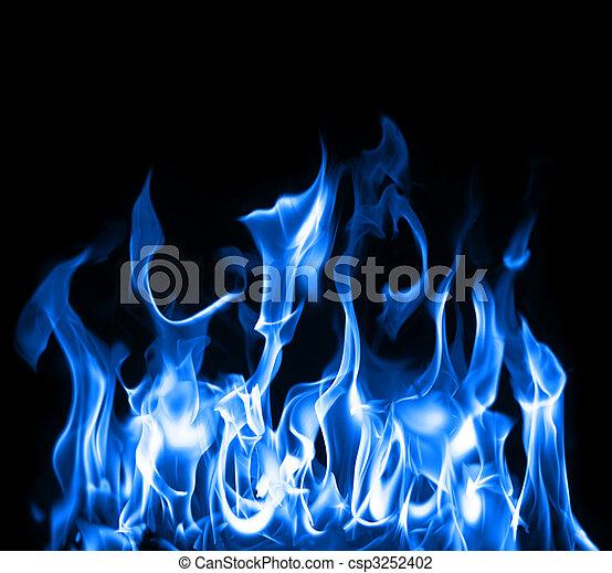 bleu, flammes - csp3252402
