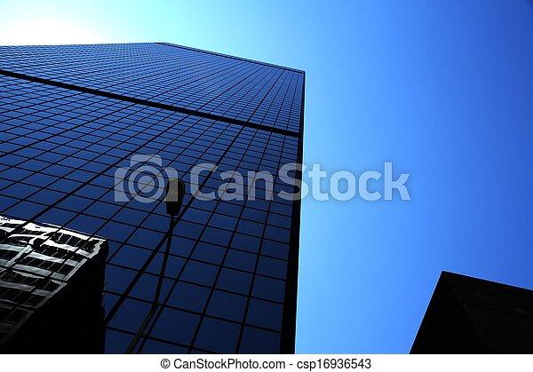 bleu, gratte-ciel - csp16936543