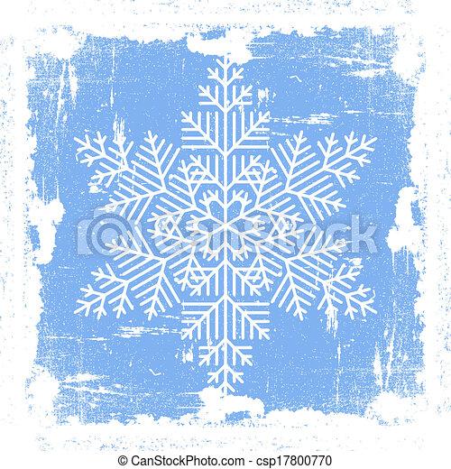 bleu, grunge, flocon de neige - csp17800770