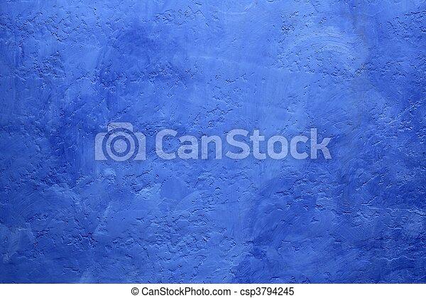 bleu, grunge, peint, texture, mur, fond - csp3794245