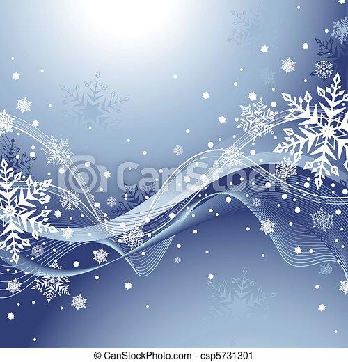 bleu, hiver, fond - csp5731301