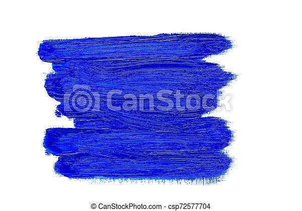 bleu, huile, coups, résumé, brosse, peinture - csp72577704