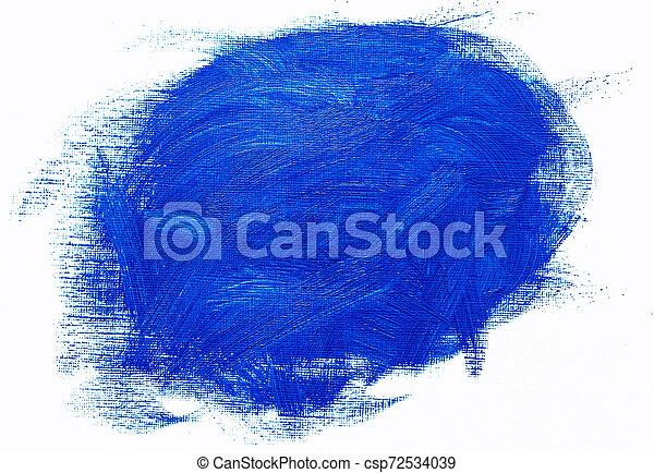 bleu, huile, coups, résumé, brosse, peinture - csp72534039