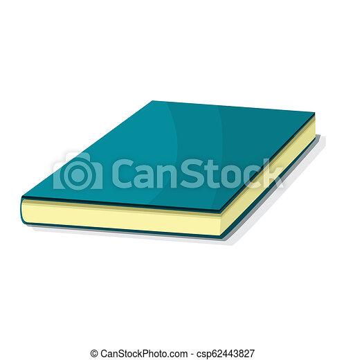 Bleu Icone Style Livre Dessin Anime Bleu Toile Isole