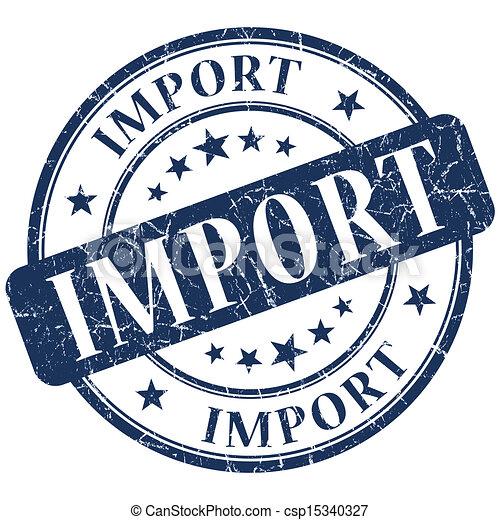 Bleu, importation, timbre.