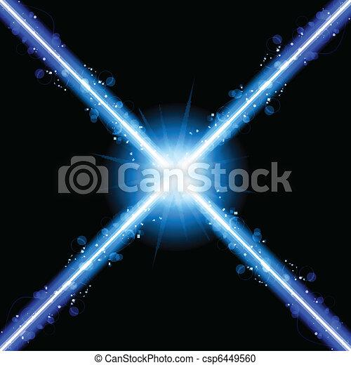 bleu, laser, néon allume - csp6449560