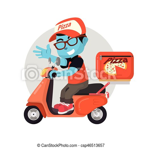 bleu livraison scooter pizza clipart vectoriel rechercher illustration dessins et images. Black Bedroom Furniture Sets. Home Design Ideas