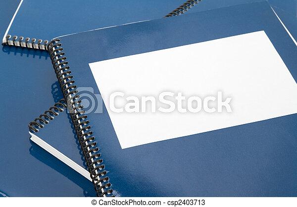 bleu, manuel, école - csp2403713