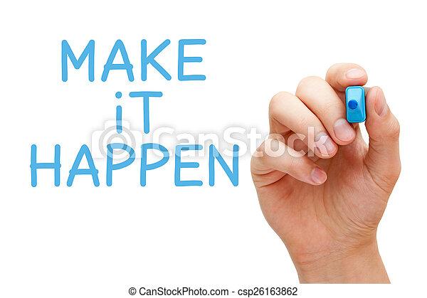 bleu, marqueur, faire, il, happen - csp26163862