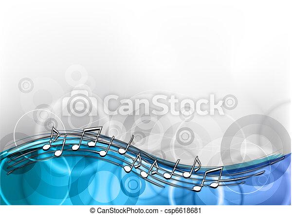 bleu, musique - csp6618681