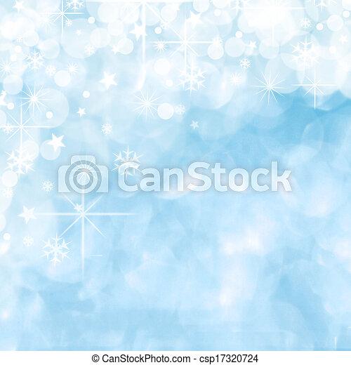 bleu, noël, fond - csp17320724