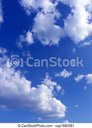 bleu, nuages, ciel, fond - csp1880381