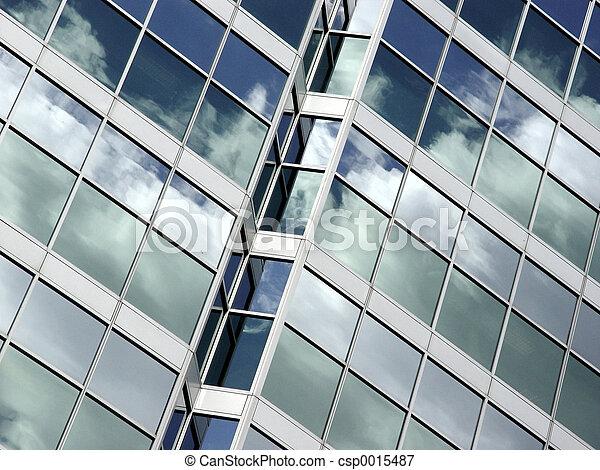 bleu, nuages, ciel - csp0015487