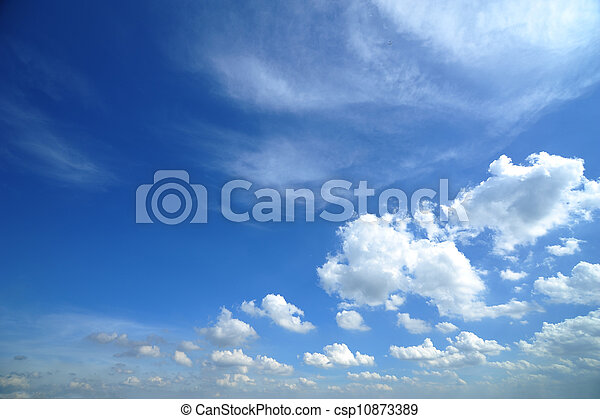 bleu, nuages, ciel - csp10873389