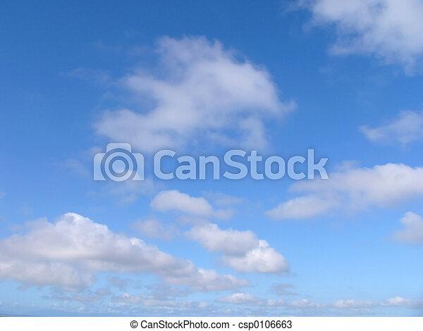 bleu, nuages, ciel - csp0106663
