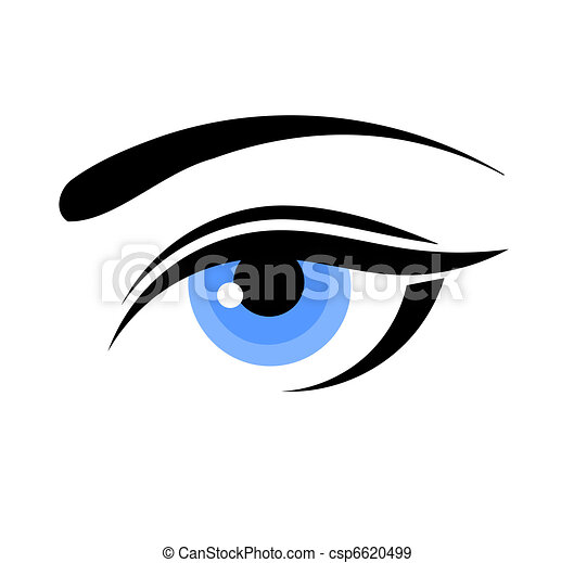 bleu, oeil femme - csp6620499