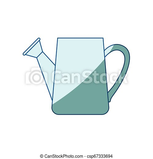 bleu, ombrager, arrosage, silhouette, boîte - csp67333694