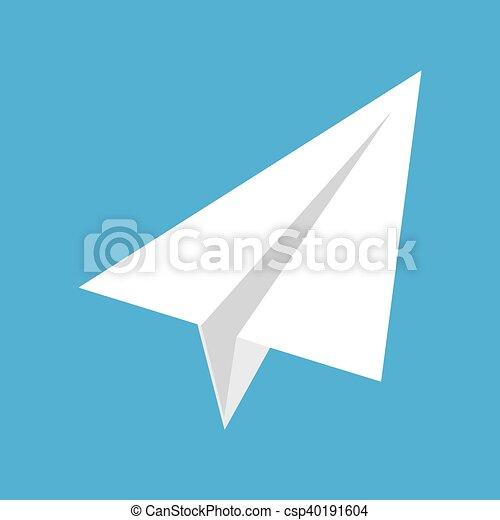 Bleu, Origami, Avion, Papier, Fond   Csp40191604