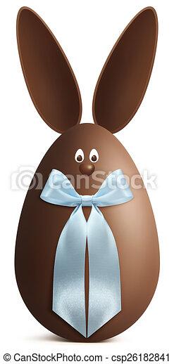 Bleu Paques Arc Oeuf Chocolat Lapin Ruban