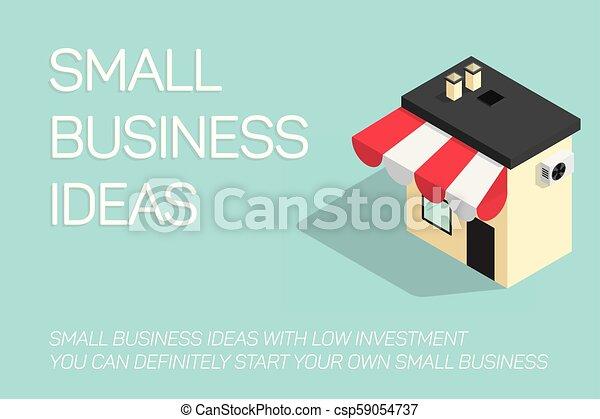 bleu, plat, concept, illustration affaires, fond, petit - csp59054737
