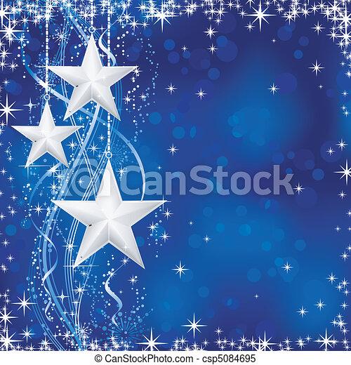 bleu, points, étoiles, occasions., hiver, transparencies., lumière, fête, lignes, neige, /, noël, ondulé, flocons, non, fond, ton - csp5084695