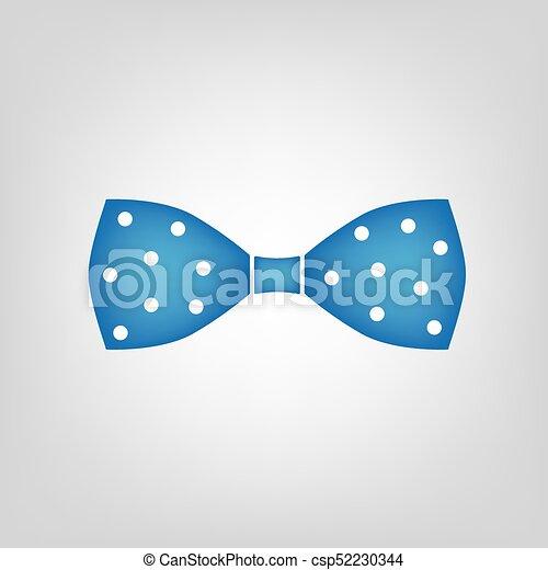 Bleu Polka Nœud Papillon Point Icône
