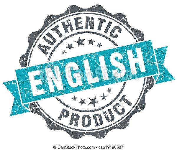 bleu, produit, grunge, anglaise, isolé, style, retro, cachet - csp19190507
