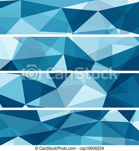 bleu, résumé, ensemble, arrière-plans - csp19936234