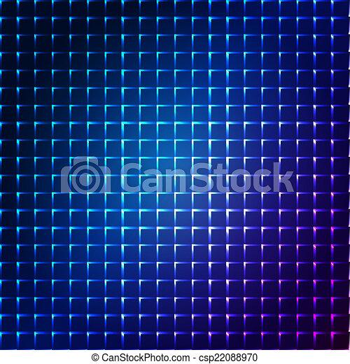 bleu, résumé, flash, étoile, fond - csp22088970