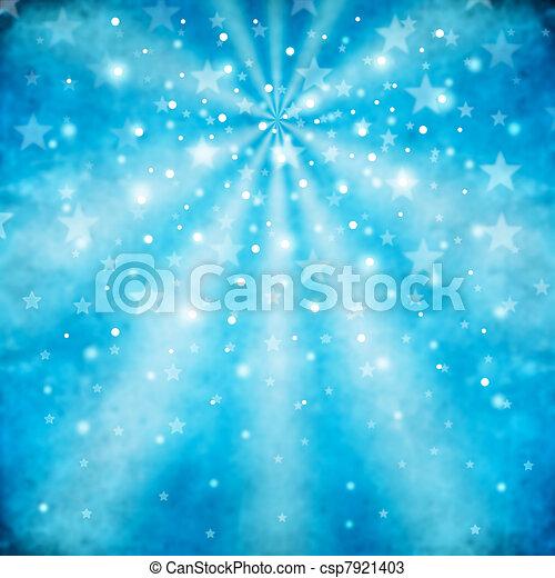 bleu, résumé, fond, étoiles - csp7921403