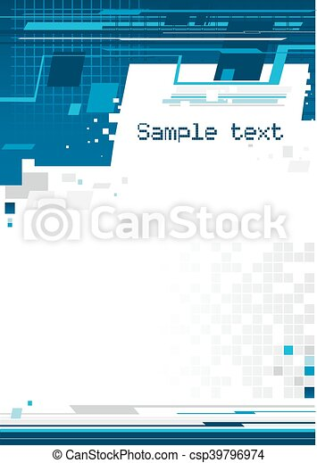 bleu, résumé, fond - csp39796974