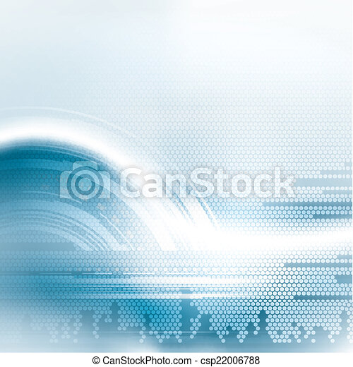 bleu, résumé, futuriste, fond - csp22006788