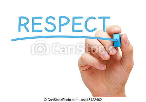 bleu, respect, marqueur - csp18422462