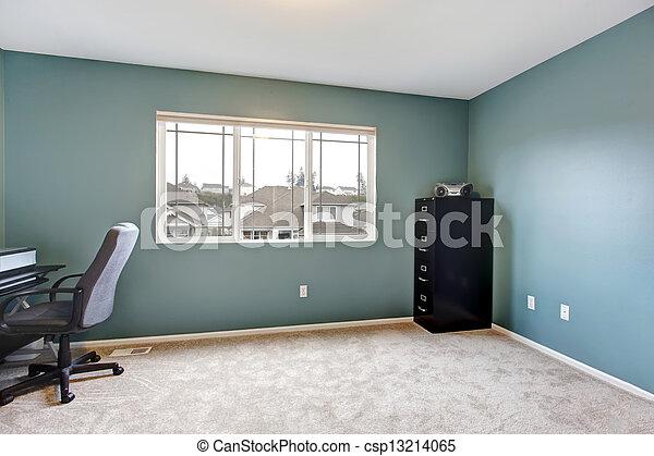 Bleu salle bureau simple walls intérieur maison bleu