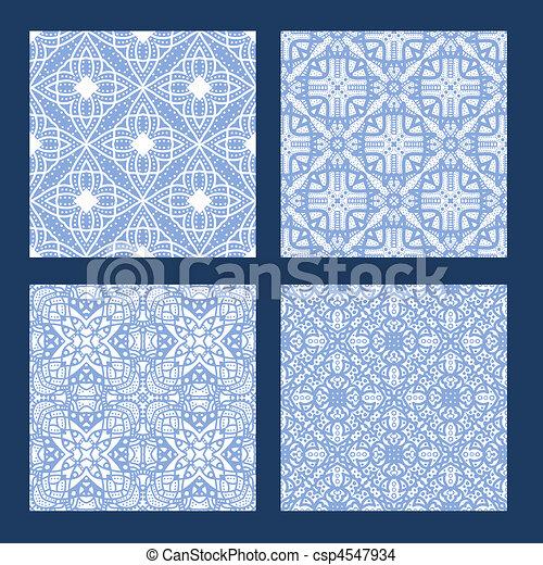Bleu Seamless Texture Collection Blanc Carrelage - Carrelage bleu