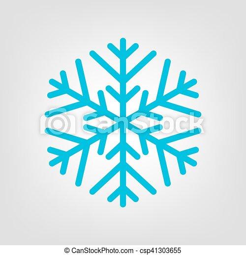 Bleu Simple Icon Vecteur Flocon De Neige Bleu Illustration Simple Symbole Vecteur Icon Flocon De Neige Canstock