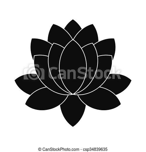 Bleu Style Fleur Lotus Simple Icône