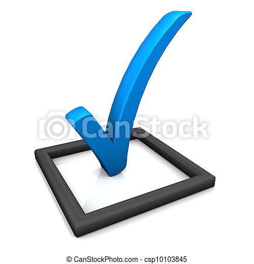 bleu, symbole, liste, chèque - csp10103845