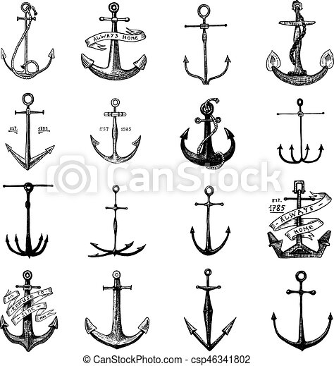 Bleu tatouage ancre aquatique vieux marin dessin coupure vendange th me bois - Dessin ancre bateau ...