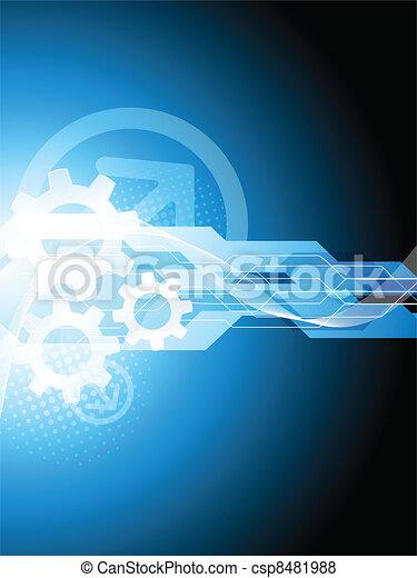 bleu, technologie, fond - csp8481988